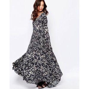 Free People Indigo First Kiss Maxi Dress Size XS